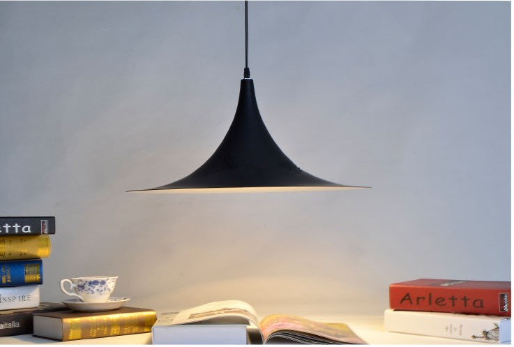 2pcs D48CM Personalized fashion White/Black aluminum Pendant lamps light lighting bedroom study dinging room Pendant Lights  2 pcs black white 100