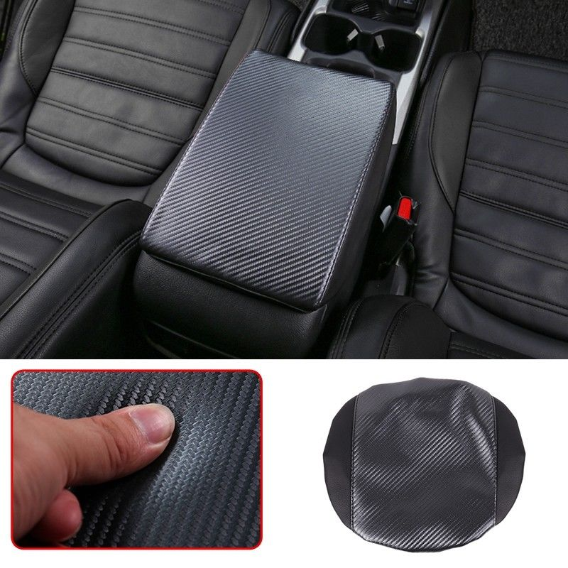 2018 New Carbon Fiber ABS Armrest Console Central Box Cover Trim For Honda CR V CRV