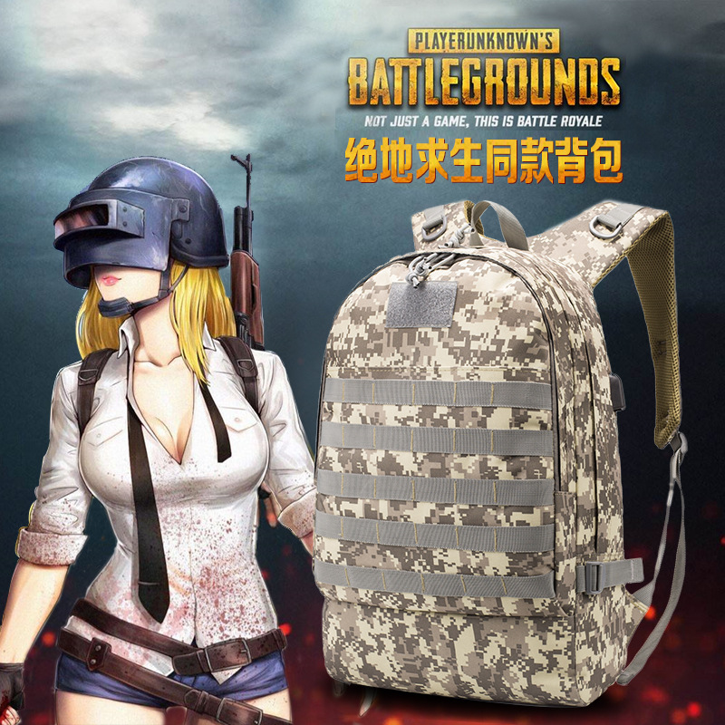 Game Playerunknowns Battlegrounds Level 3 Bag Pendant Sport Bag Waterproof Outdoor Camping Sport Bag