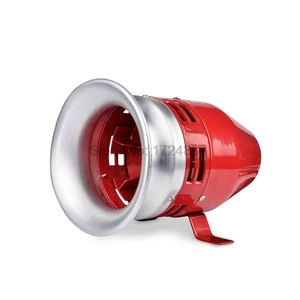 Zware Motor sirene MS-390 12 V 24 V 220 V Automotive Luchtalarm Hoorn Auto Vrachtwagen Motor Aangedreven alarm kleine motor buzzer(China)