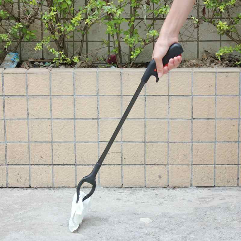 Garbage Picking Tool Long Arm Stick Rubbish Grabber Clip Extending Trash Pick Up Tool With Reach Hand Stick