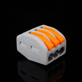 Free Shipping 30Pcs PCT-213 3 Pin Universal Compact Wire Wiring Connector Conductor Terminal Electrical Contacts
