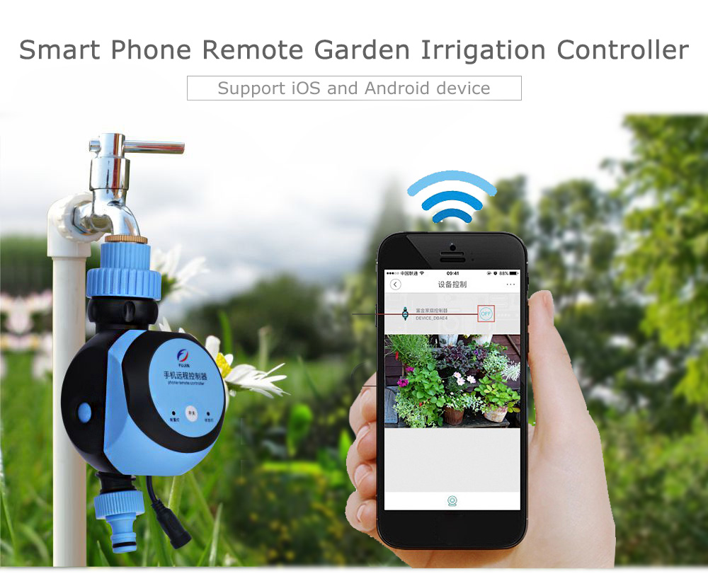 Automatic Intelligent Electronic Water Timer Smart Phone Remote Garden Irrigation Controller Watering System Solenoid Valve hose de jardin extensible