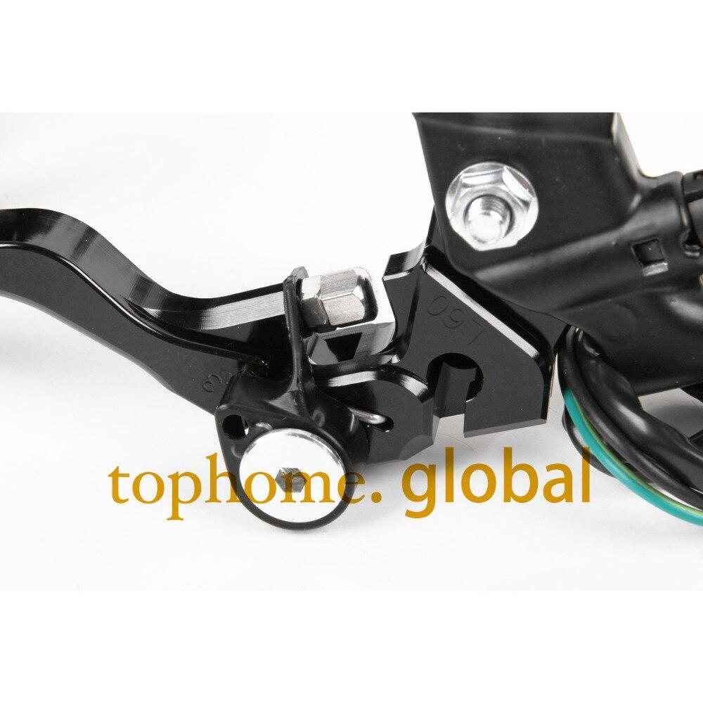 7/8 New CNC Brake Master Cylinder Pressure Switch Reservoir Levers Dirt Pit Bike Black For KAWASAKI KLX250,D-TRACKER 1993-1997