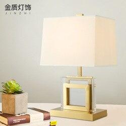 Nowoczesne proste luksusowe lampy stołowe jasne żelazne z kryształami lampy stołowe miękkie lampa biurkowa u nas państwo lampy do sypialni lampki nocne salon badania