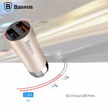 Baseus CarQ Series QC3.0 Car Charger, Dual USB quick charger for iPhone for smartphone/tablet/other device
