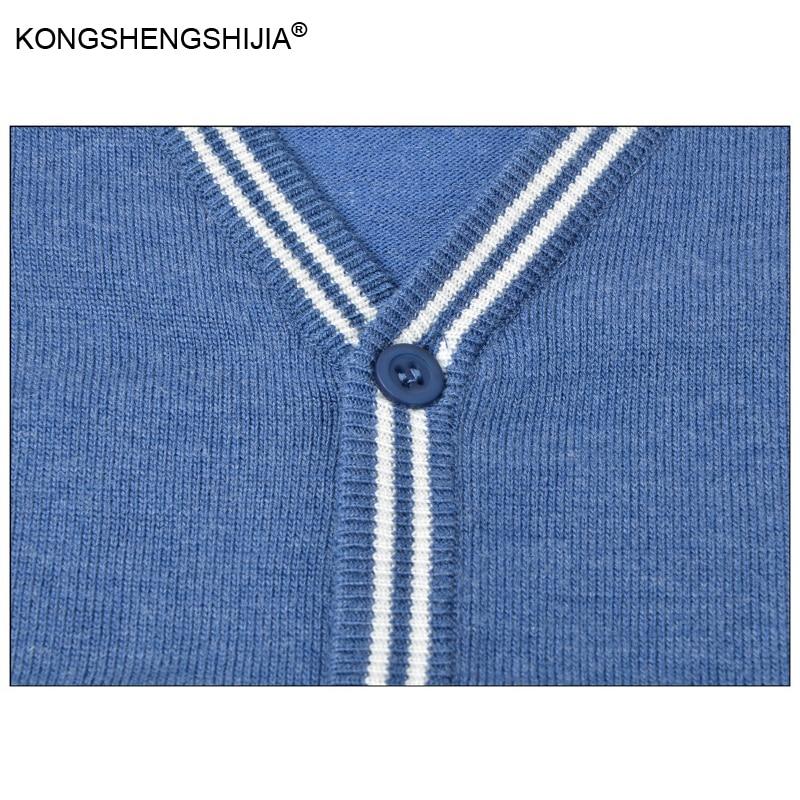 2017 Новый Осень Зима Кардиган моды для Мужчин свитер однобортный повседневная плюс размер трикотаж QF118