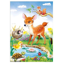 Diamond Mosaic Home Decor Embroidery 5Ddiy Full Circle Painting Cross Stitch Kit Animal Cartoon Picture