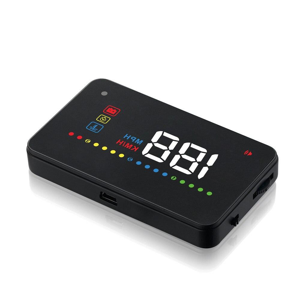 Voiture OBD2 II EUOBD voiture HUD affichage tête haute A200 alarme de vitesse projecteur pare-brise alarme de tension électronique automatique