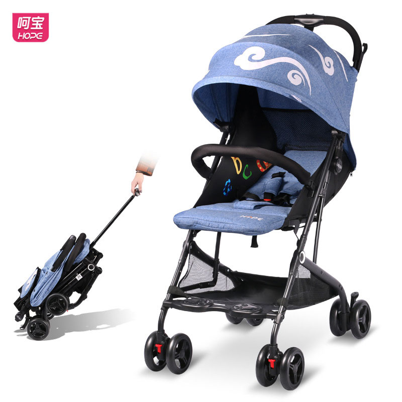 HOPE Baby Stroller Super Light Folding Baby Car Can Sit Lie Flat Lightweight Baby Pram Travel Airplane Portable Baby Carriage folding twins baby stroller light weight portable european baby carriage double directions travel pram