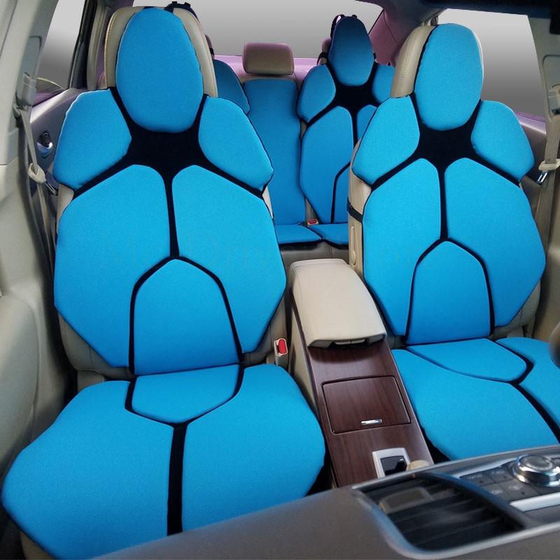 2 pc housse de siège avant de voiture individuelle sport coussin ventilation universelle pour Smart fortwo mercedes cla bmw livraison directe 13 couleur