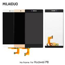 LCD Display For Huawei P8 GRA-UL00 GRA-TL00 GRA-CL00 Touch Screen Digitizer Assembly Replacement Black White Gold No Frame 5.2