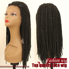 New Style Brazilian Hair Lace Front Wig Synthetic Braiding Hair Synthetic Wig Braiding African American Box Twist Braided Wig