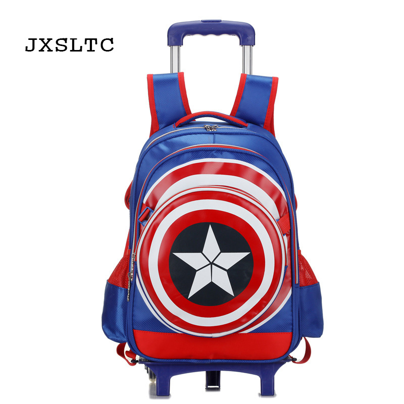 JXSLTC Trolley Children School Bags Mochilas Kids Backpacks With Wheel Trolley Luggage For Girls Backpack Escolar Schoolbag hello kitty children school bags mochilas kids backpacks with wheel trolley luggage for girls backpack mochila infantil bolsas