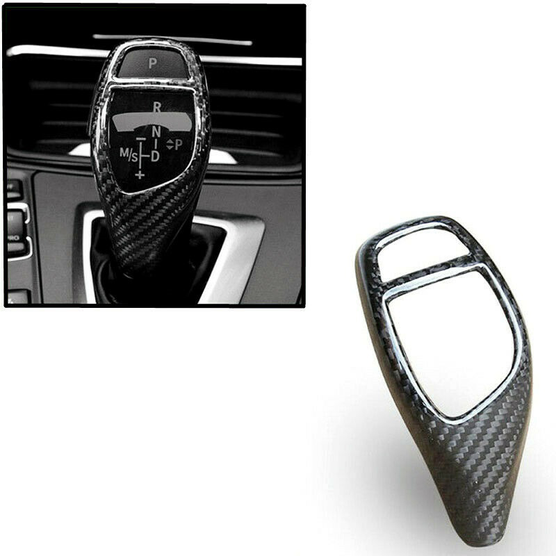 Carbon Fiber Gear Shift Knob Cover For BMW F20 F30 F25 F26 F15 1 2 3 4 Series(China)
