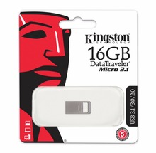 Kingston mini usb 3.1 memory stick 16gb micro flash drive USB 3.0 flash disk memorias usb wholesale