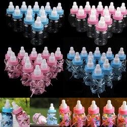 Dobrodziejstw butelki wypełnione dekoracje świąteczne pudełko cukierków śliczny styl zachodni niebieski różowy przezroczysty Baby Girl Boy Shower w Torby na prezenty i przybory do pakowania od Dom i ogród na