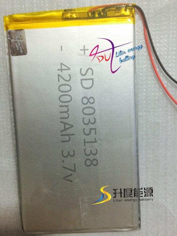 VertrauenswüRdig Sd Heißer Verkauf Li-polymer Batterie Für Tragbare Lautsprecher 8035138 4200 Mah In Den Spezifikationen VervollstäNdigen Stromquelle