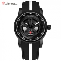 Thresher SHARK Sport Watch Men New Brand Luxury Racing Wheel Design Quartz Silicone Band Watches