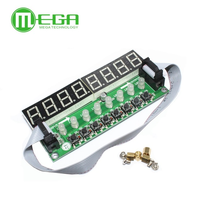 I102 JY-LKM1638, F71A   8* Digital Tube + 8* Key + 8* Double Color LED Module TM1638 Can be Cascaded Replace CH452 / MAX7219