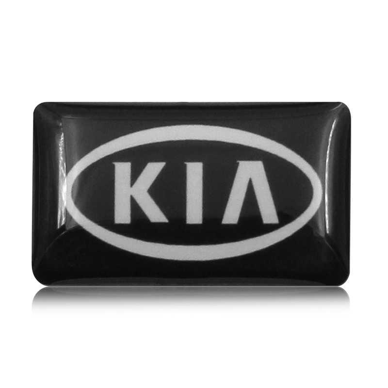 1 Uds. 10 Uds. 50 Uds., diseño de coche, pequeña insignia decorativa, tapas de cubo, volante para Kia K2 K3 K5, Sorento, R Alma de Rio