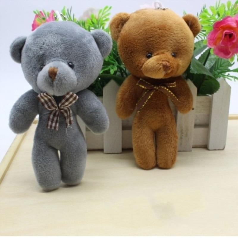 Baby Toys 12CM Popobe Gloomy Teddy Bear Cute Plush Bag Keychain Car Key Holder For Bag Charm Hanging Ring Pendant Doll B0068