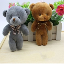 Baby Toys 12CM Popobe Gloomy Teddy Bear Cute Plush Bag Keychain Car Key Holder for Bag Charm Hanging Ring Pendant Doll B0068