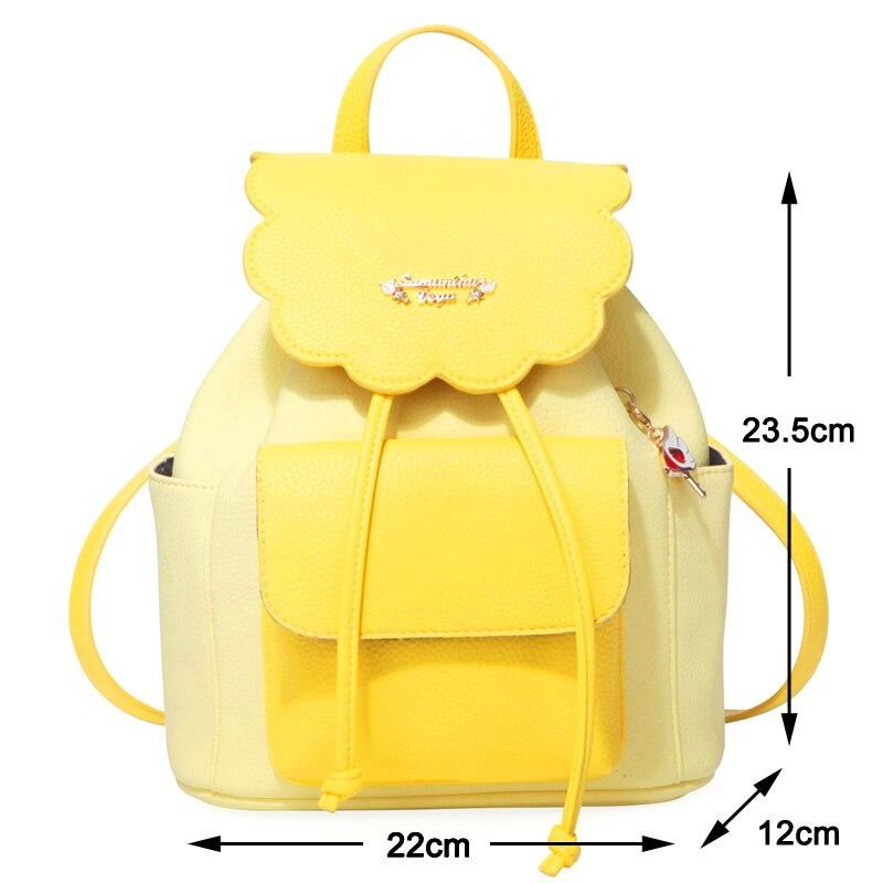 Japanese Anime Card Captor Cardcaptor Sakura Cosplay Backpack Shoulder Bag  Kawaii School Bag Bookbag Rucksack with Charms-in Backpacks from Luggage    Bags ... dc892874733cd