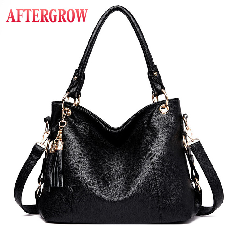 Large Size Handbag Female Totes Bag Tassel Patchwork Soft Leather Women Hobos Bags Ladies Shoulder Luis O V Sac A Main Femme