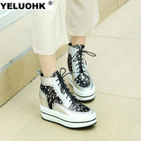 Brand New Genuine Leather Women Boots High Heel Shoes Brogue Shoes Autumn Shoes Ankle Boots For