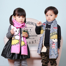 small scarf Korean version of the lovely wool children's scarf men and women baby scarves thicker models in winter optional S111