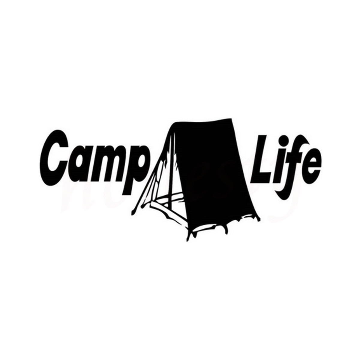 Aliexpress.com : Buy Camp Life Tent Funny Car Sticker Wall