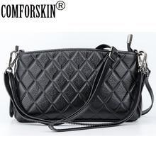 COMFORSKIN New Arrivals Geometric Style Womens Bags Cowhide European American Feminine Messenger 2018 Hot Bolsas Feminina