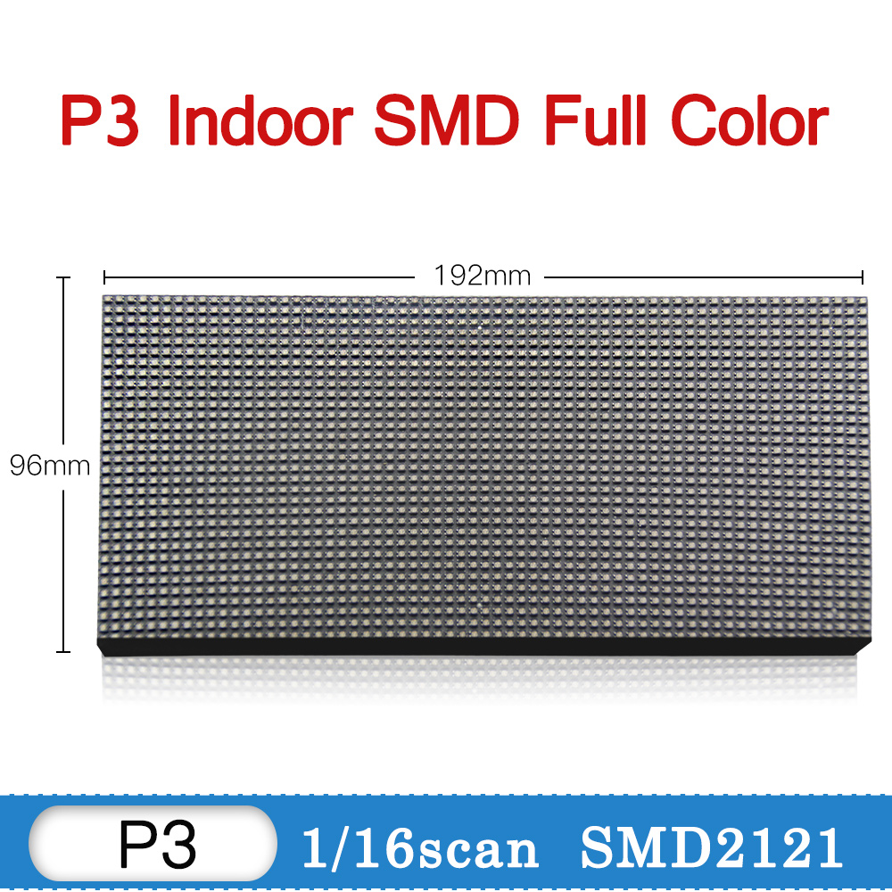 US $24 0 |P3 Indoor Led Display Module RGB Full Color Tv Panel Video Wall  P3 Led Sign Board Led Display Wall Screen 192*96 mm 64*32 pixel-in LED