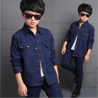Baby Boys Outwear Clothes Kids Casual Plush Inside Jeans Jacket Cowboys Clothes Children S Fashion Long