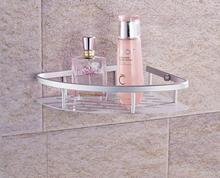 Aluminium bathroom triangle basket corner shelf space A tripod rack