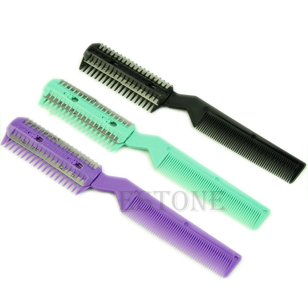 ᗑprofessional Scissor Home Diy Hair Razor Razor Comb Hairdressing Thinning Thinning Trimmer