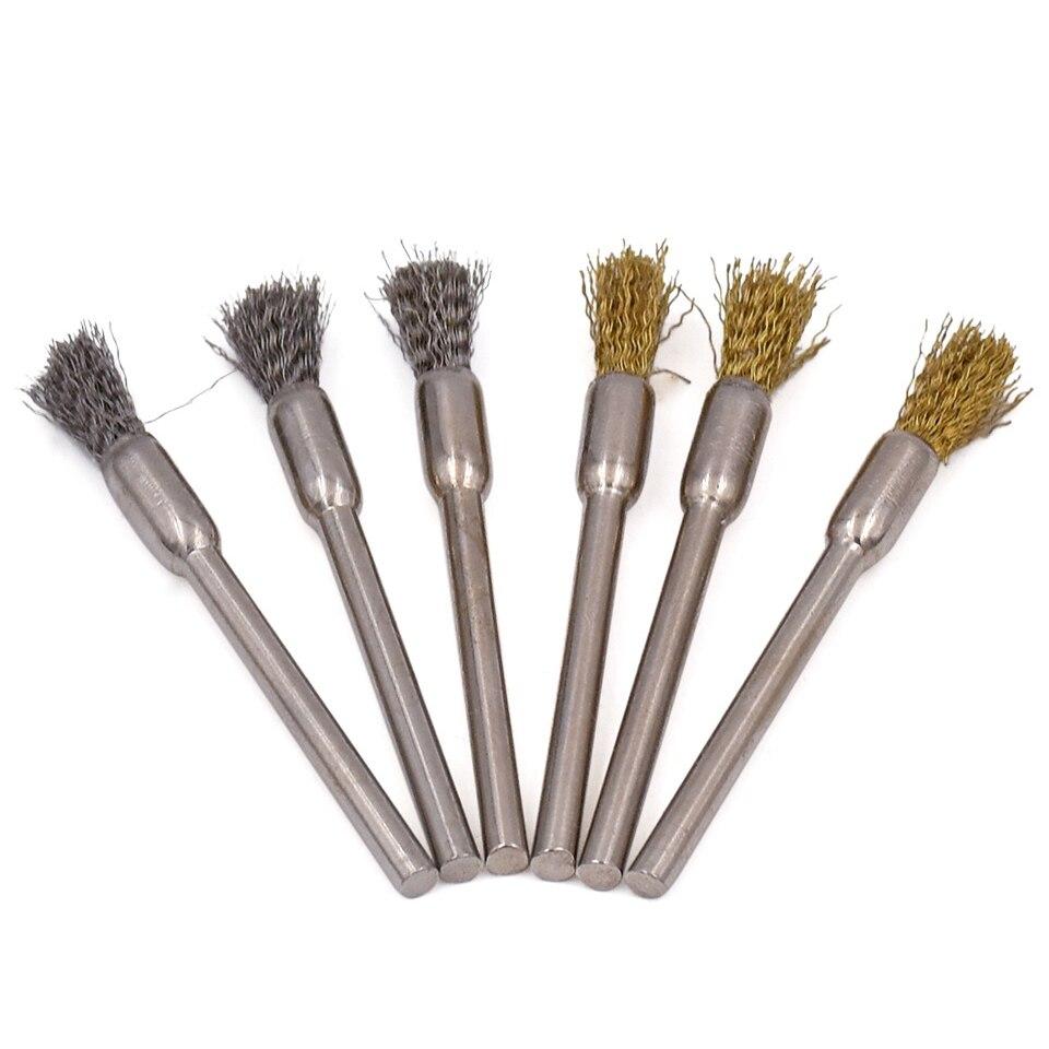 20 pcs Outils Abrasifs Laiton et Fil D'acier Brosse De Polissage Pour - Outils abrasifs - Photo 5