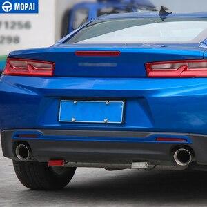 Image 3 - Mopai estilo do carro abs cauda carro amortecedor traseiro placa decoração guarnição adesivos para chevrolet camaro 2017 up acessórios do carro