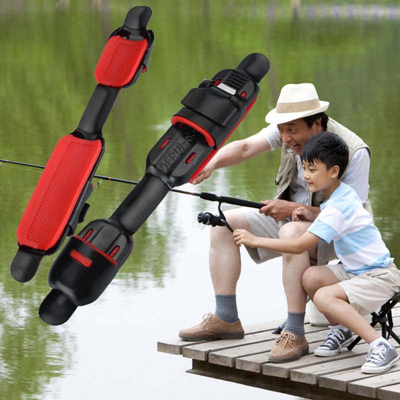 Relefree Fish Wheel Reel Seat Deck Fishing Rods Pole Clip Fitted Stainless Steel Portable Fishing Rods Pole Clip Fitted Portable