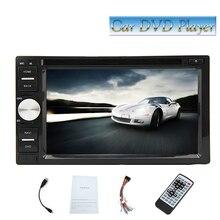 """Бесплатная Камера + 6.2 """"сенсорный экран DVD плеер двойной din Авторадио в тире стерео руль сабвуфер Bluetooth удаленный"""