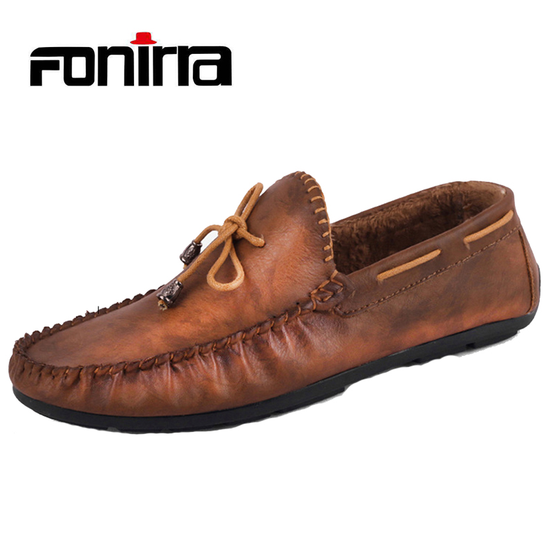 FONIRRA Men Causual Shoes Slip On Flats Driving Shoes Moccasins Soft Leather Flat Loafers Chaussure Homme  722 fonirra genuine cow leather mens loafers moccasins leather men flats slip on men leather shoes men driving shoes 720