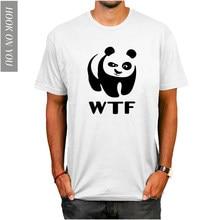 c86fe6e0 Designer t shirt wwf WTF funny faces Panda T-shirt cotton Lycra top Fashion  Brand t shirt men new DIY Style high quality 2018