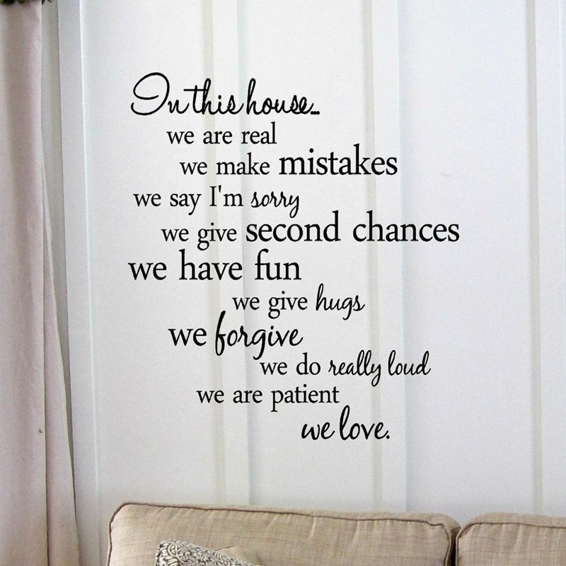 Inspirational Quotes Wall Sticker Home Decor Family Quote
