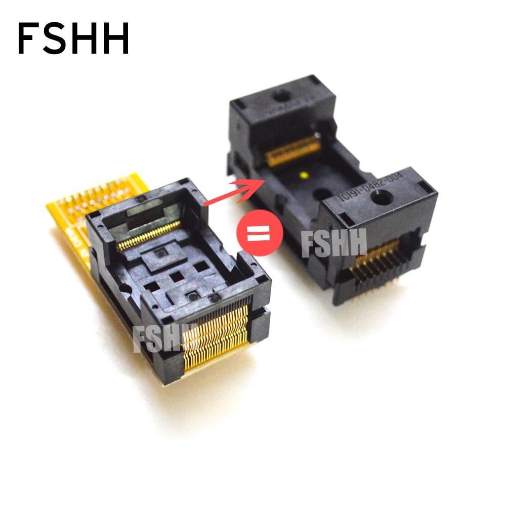 TSOP48 Test Socket FLASH TSOP48 Adapter Pitch=0.5mm