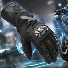 2018 Новое поступление углеродного волокна перчатки мотоцикла зима Утепленная одежда Сенсорный экран перчатки для мотокросса Для мужчин Для женщин 100% Водонепроницаемый luvas