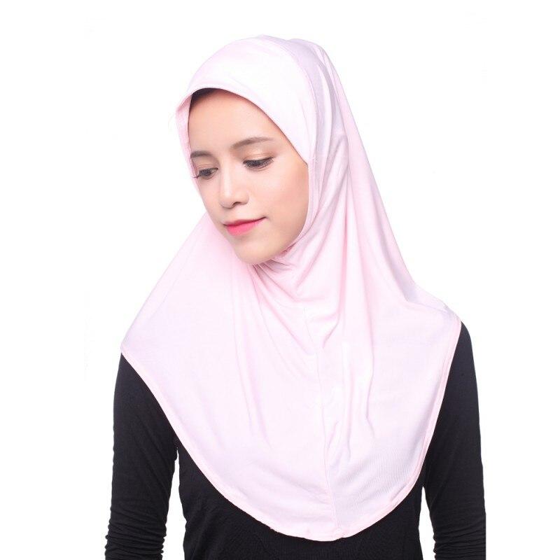 Muslim Women Inner Hijab Headscarf Cap Islamic Full Cover Hat Underscarf Headwear Shawl Y4