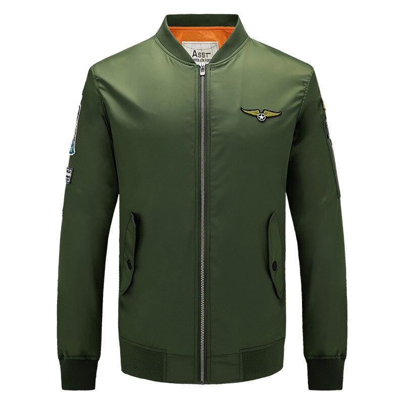Automne 2016 femmes Homme Armée Coupe Vert Nouvelle Zipper Bombardiers Blouson Hommes Green Mode Bomber bleu army Veste Hommes vent Vestes Noir orange TPwOiukXZl
