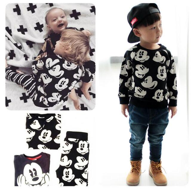 73cf0bab7 2016 new arrivals Children Boys and Girls Fashion cartoon cotton sweaters  and long pants kids spring and winter hoodie and pant