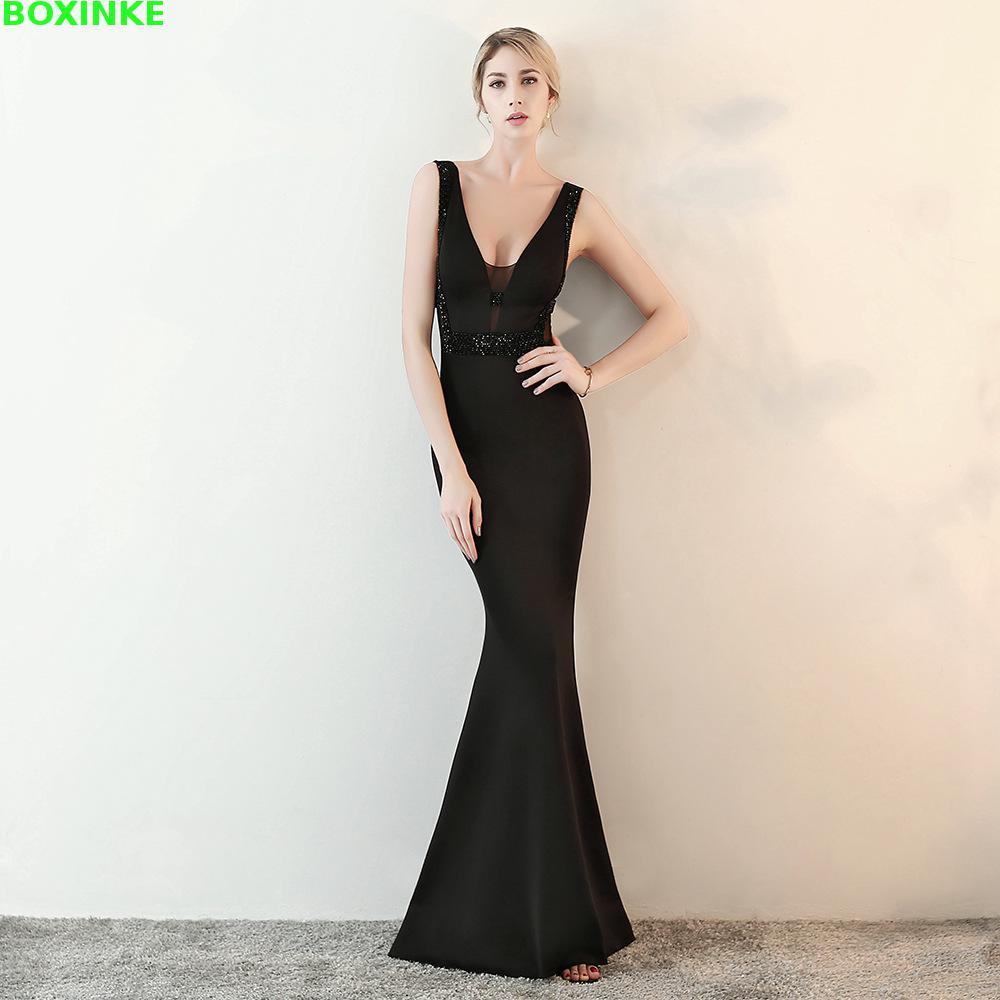 Vadim Top Fashion Mesh Polyester Lanon 2018 New Sexy Nightclub Celebrity Fish Tail Long Host Dress Is Thin, V Summer Dress.